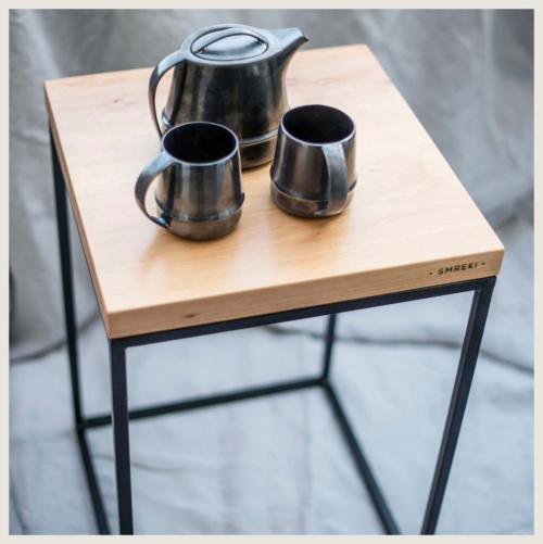 Stolik dębowy 40x40, stolik pomocniczy 40x40