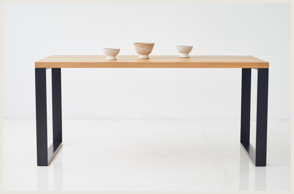 Stół minimalistyczny z dębowym blatem do salonu, stół 160x90 dębowy 200x100