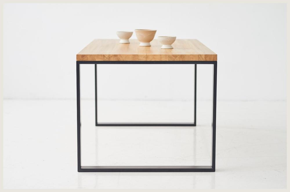 Stół minimalistyczny do kuchni, stół z drewnianym blatem dębowym blatem stół nowoczesny warszawa