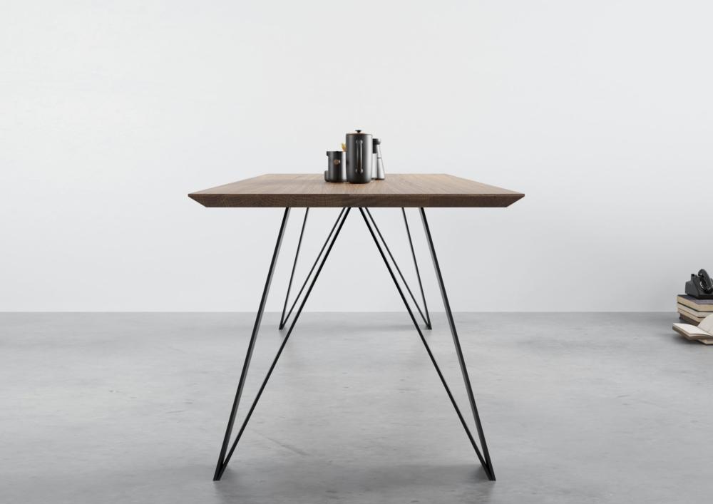 Stół St10 dębowy rozkładany, stół industrialny, stół nowoczesny, stół loftowy, stół loft, stoły nowoczesne do jadalni, stół 200x100, stół z dostawkami, stół rozkładany do salonu