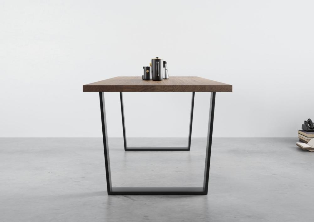 Stół dębowy rozkładany na stalowych nogach, stół z grubym blatem, stół 160:90, stół 140x90, stół na wymiar do jadalni, stoły na wymiar, stoły na zamówienie