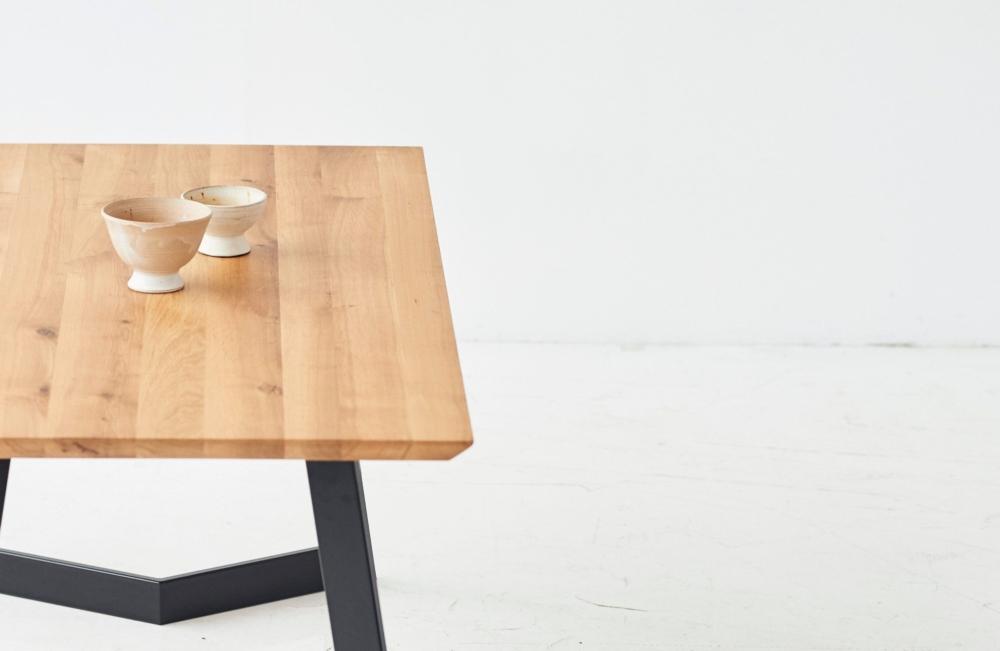 Stół dębowy z dostawkami st3, stół industrialny, jasny dąb