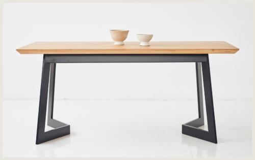 Stół w stylu industrialnym, stół 180x90, stół jasny dąb, stół dąb rustykalny dziki dab