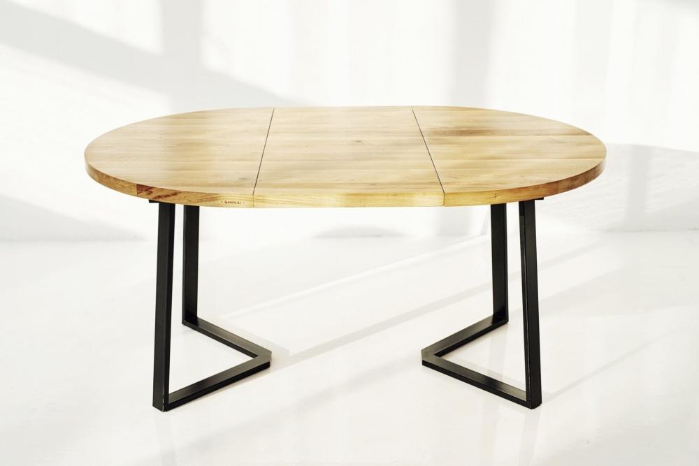Stół rozkładany,okragły,owalny, debowy nowoczesny