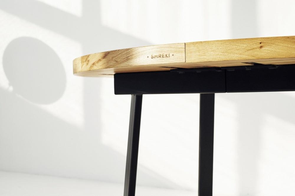Stół rozsówany z dębu, stół z litego drewna rozkładany