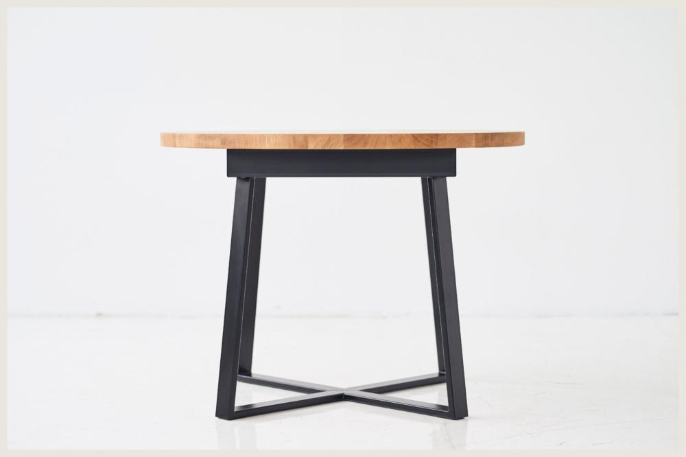 Stół okragły rozkładany drewniany z dębowym blatem smreki produktowy