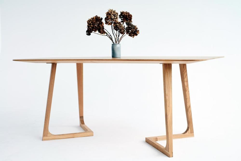 Stół Dębowy, stół z cienkim blatem dębowym, stół dla 4 osób, stół wymiary