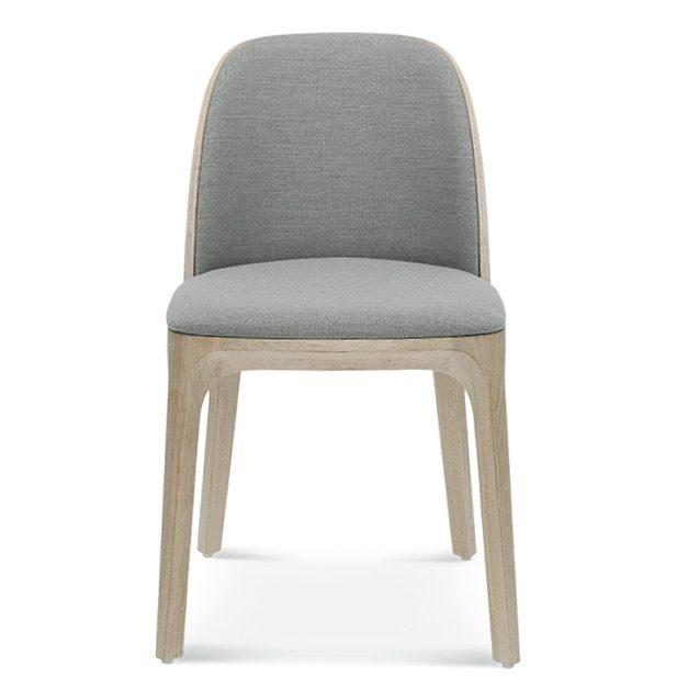 fameg arch a-1801, jasne krzesło, krzesło tapicerowane szare, drewniane krzesło do salonu, krzesła do salonu, krzesło do jadalni, krzesła do jadalni, nowoczesne krzesło, drewniane krzesło. dębowe krzesło, 1