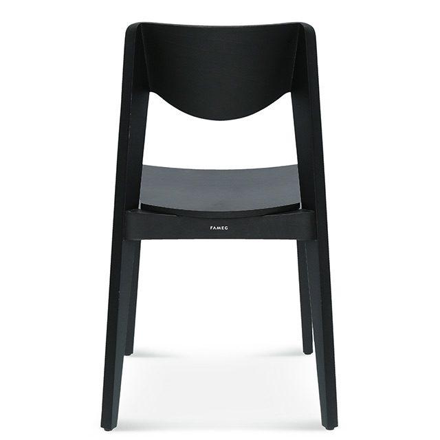 krzesło fameg fjord, krzesło do modrnistycznego salonu, krzesło do loftu tył