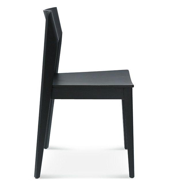 krzesło fameg fjord, krzesło do modrnistycznego salonu, krzesło do loftu bok