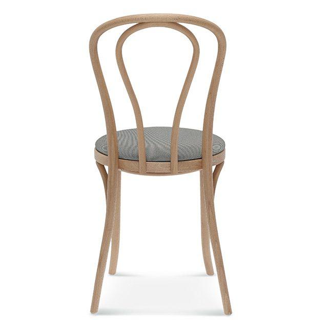klasyczne krzesło a-18, fameg tradycyjne krzesło gięte tył