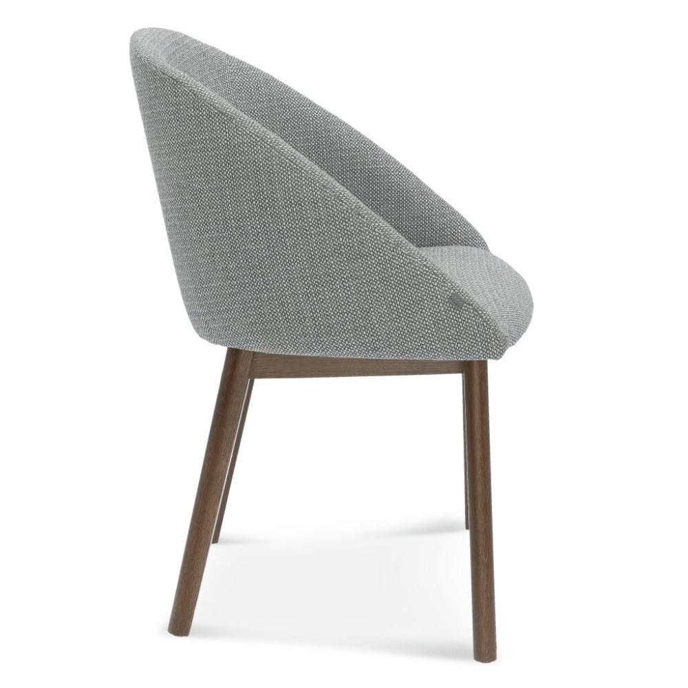 fameg pop a-1901, krzesło tapicerowane szare do jadalni, krzesła do jadalni, krzesła do salonu, krzesło do salonu, nowoczesne krzesło szare, krzesło dębowe, krzeslo do salonu, krzeslo do jadalni, fameg krzesła,