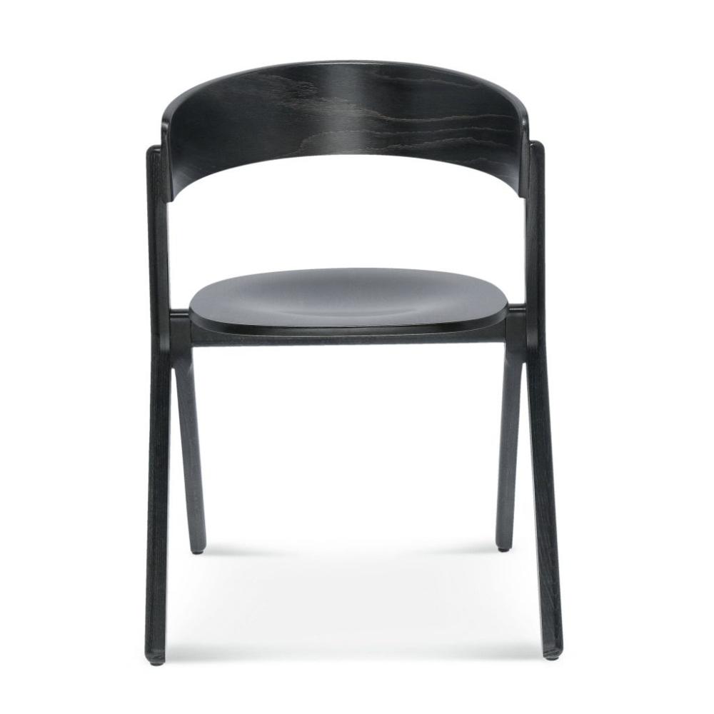 Krzesło signa B-1903, czarne krzesło drewniane proste stylowe krzesło