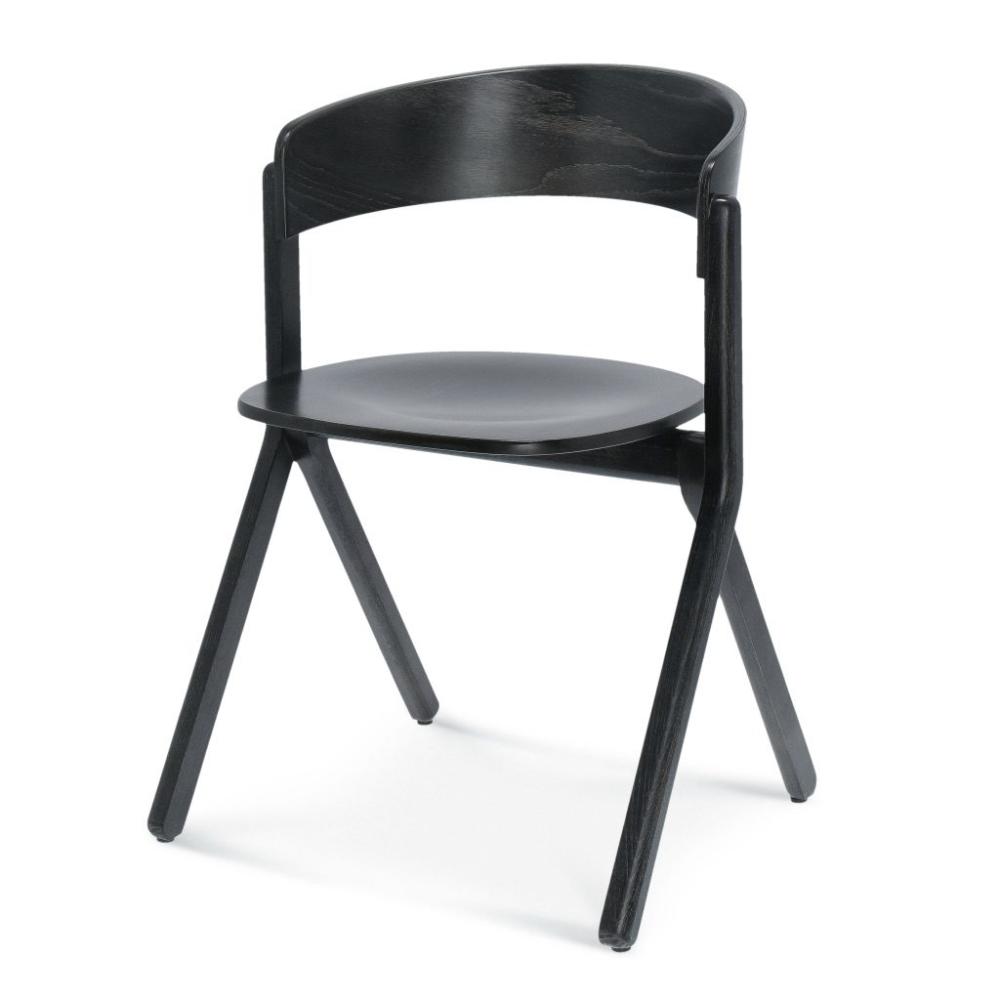 Krzesło signa B-1903, czarne krzesło drewniane