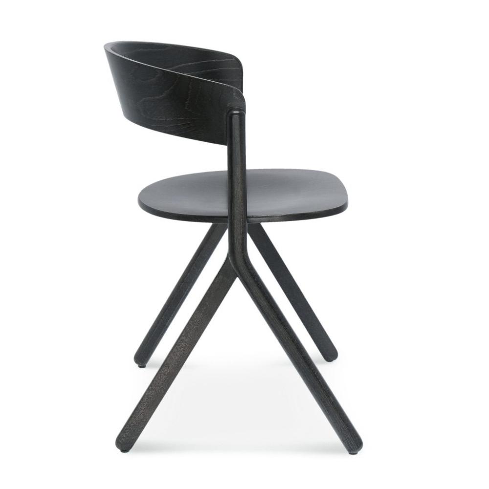 Krzesło signa B-1903, czarne krzesło drewniane z wygodnym oparciem