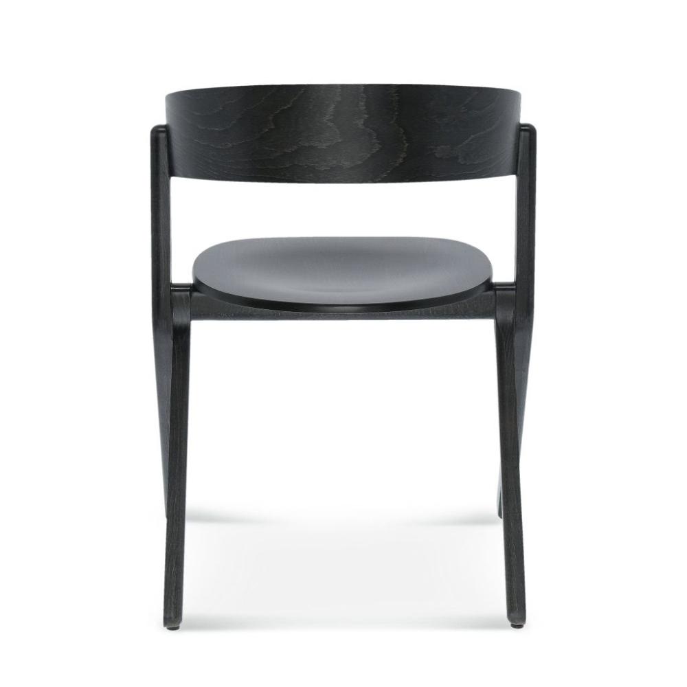 Krzesło signa B-1903, czarne krzesło drewniane tyłł