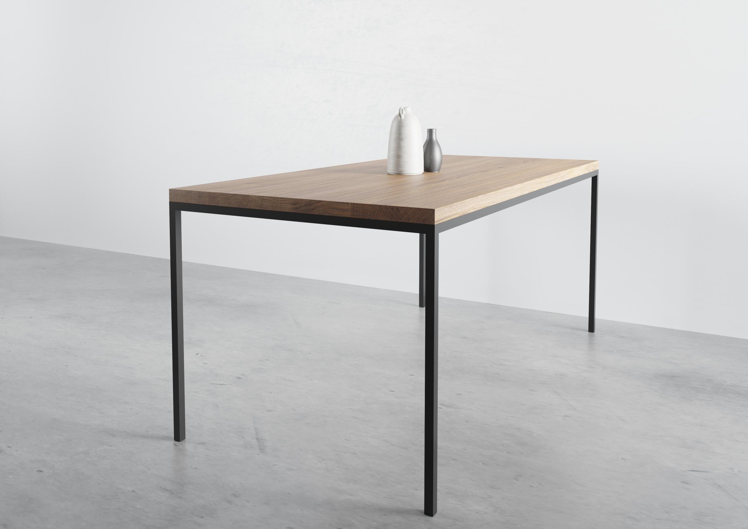 ST 14, stół dębowy do jadalni, producent stołów, prosty stół do jadalny, funkcjonalny stół do jadalni, stół do jadalni, prosta krawędź, rozkładany, stół dębowy, stół, praktyczny na 4 nogach
