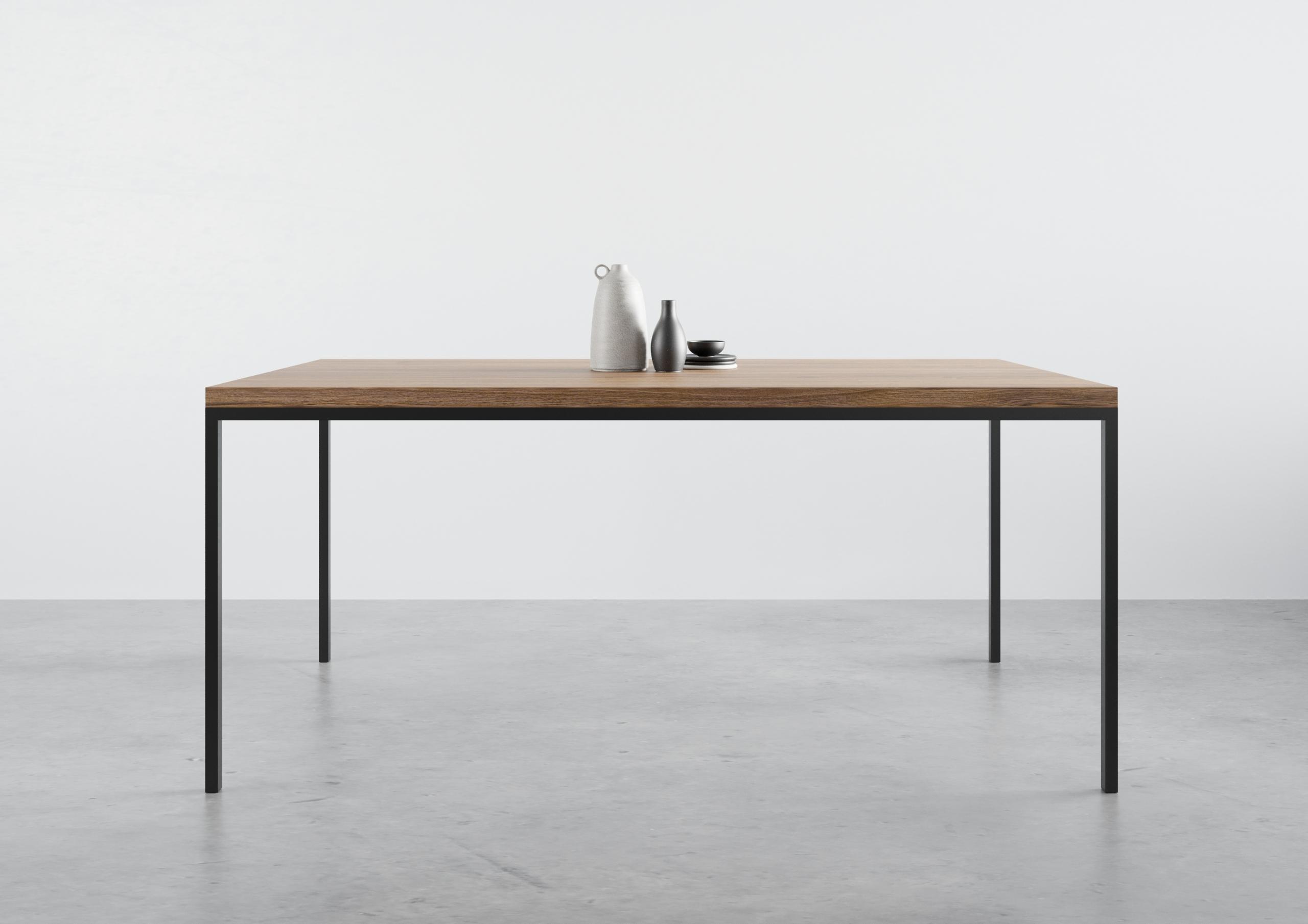 ST 14, stół dębowy do jadalni, producent stołów, prosty stół do jadalny, funkcjonalny stół do jadalni, stół 120 cm 140 cm 160 cm, stół do jadalni, prosta krawędź, rozkładany stół, praktyczny stół dębowy