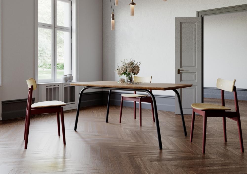 ST13 OVO, nowoczesny stół jadalniany, producent stołów dębowych, stół rozkładany, stół 140 cm 160 cm 180 cm, stół z blatem dębowym, praktyczny stół do salonu, zaokrąglona krawędź, funkcjonalny stół z powiększenia
