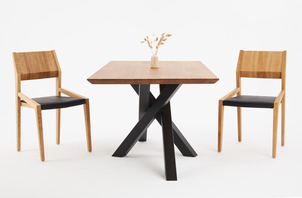 Stół Pająk i krzesła fameg arcos a-1403, nowoczesny stół z krzesłami dębowymi